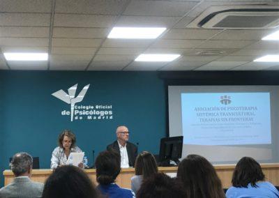 Ana Abello, Secretaria FAPYMPE y Eduardo Brik, Presidente de la Asociación Terapias sin Fronteras